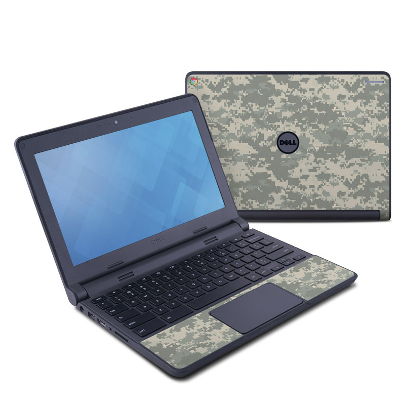 Dell Chromebook 11 Skin design of Military camouflage, Green, Pattern, Uniform, Camouflage, Design, Wallpaper with gray, green colors