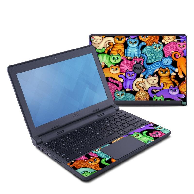 Colorful Kittens Dell Chromebook 11 Skin