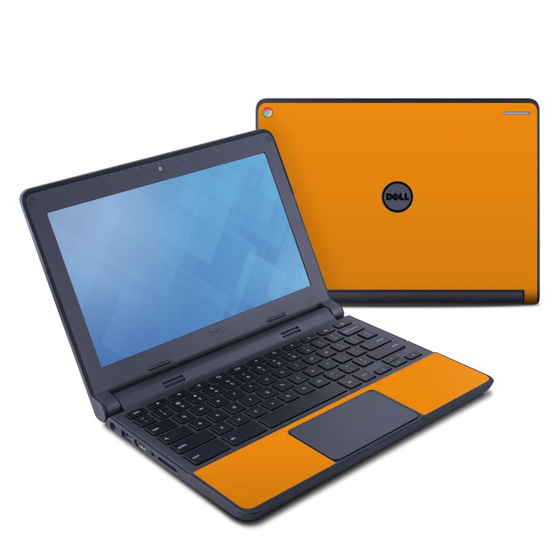 Dell Chromebook 11 Skin design of Orange, Yellow, Brown, Text, Amber, Font, Peach with orange colors