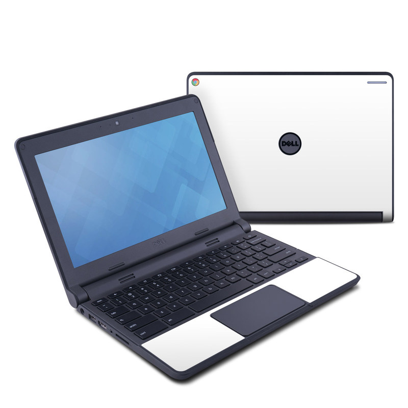 Dell Chromebook 11 Skin design of White, Black, Line with white colors