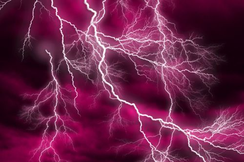 Design of Thunder, Lightning, Thunderstorm, Sky, Nature, Purple, Red, Atmosphere, Violet, Pink with pink, black, white colors