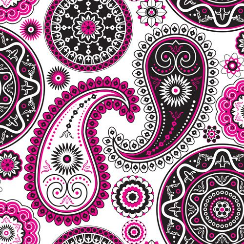 Design of Pattern, Paisley, Motif, Visual arts, Pink, Design, Circle, Textile with white, pink, black colors