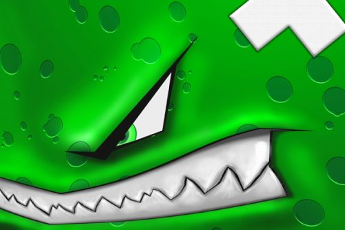 Fat Shark Dominator V2 Skin design of Green, Font, Animation, Logo, Graphics, Games with green, white colors