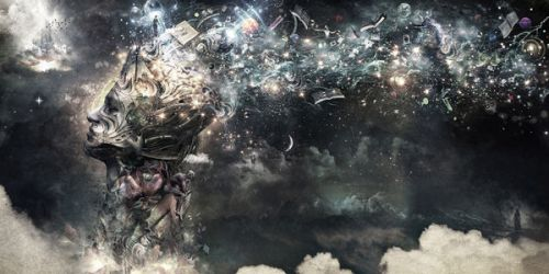 Design of Space, Cg artwork, Art, Sky, Darkness, Illustration, Graphic design, Outer space, Graphics, Animation with white, black, gray, yellow colors