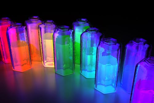 Design of Light, Water, Transparent material, Glass, Bottle, Glass bottle, Drinkware, Chemistry, Transparency with black, blue, red colors