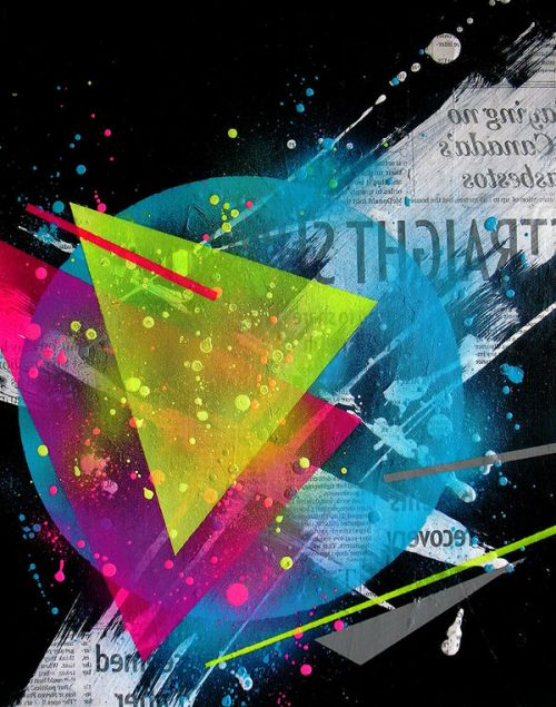 Design of Graphic design, Font, Line, Design, Illustration, Graphics, Triangle, Colorfulness, Technology, Space with black, blue, green, gray, red colors