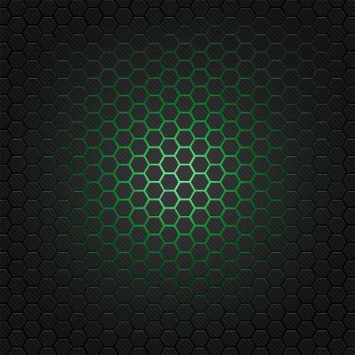 Design of Pattern, Metal, Design, Carbon, Space, Circle with black, gray, green colors