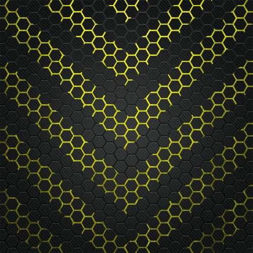 Design of Black, Pattern, Yellow, Mesh, Net, Chain-link fencing, Design, Metal with black, gray, yellow colors