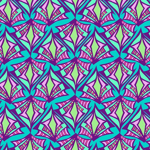 Amazon Fire 2015 Skin design of Pattern, Purple, Pink, Line, Magenta, Symmetry, Design, Teal, Textile with blue, purple, gray, green, pink colors