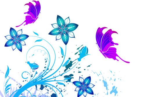 Design of Clip art, Botany, Plant, Graphics, Graphic design, Pedicel, Flower, Wildflower with white, purple, blue, gray colors