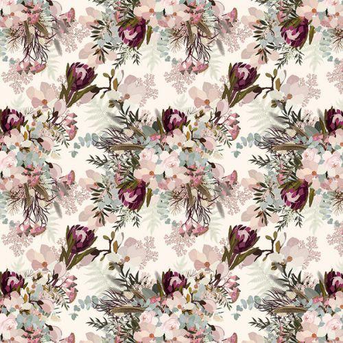 Tablet Sleeve design of Pink, Pattern, Lilac, Flower, Plant, Petal, Floral design, Textile, Design, Blossom with white, red, pink, blue, brown colors