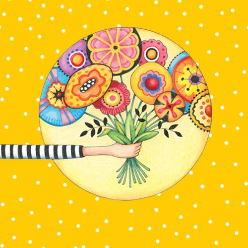 Design of Circle, Illustration, Clip art, Plant with orange, yellow, pink, gray, green, black colors