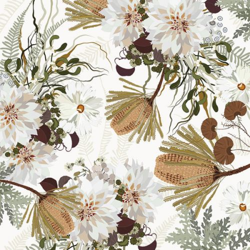 Design of Flower, Botany, Plant, Floral design, Wildflower, Pattern, Wallpaper, Textile, Petal, Butterfly with white, brown, green, gray colors