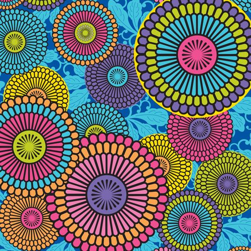 Old Xbox 360 Skin design of Pattern, Circle, Psychedelic art, Textile, Visual arts, Design, Art, Floral design, Motif with black, blue, green, purple, red colors