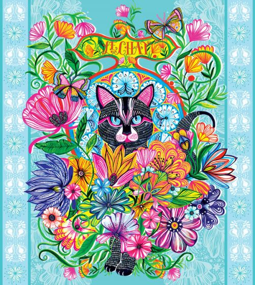 OtterBox Symmetry iPhone 6s Plus Case Skin design of Visual arts, Art, Plant, Illustration, Pattern, Floral design, Flower, Wildflower with white, blue, pink, black, green, yellow colors