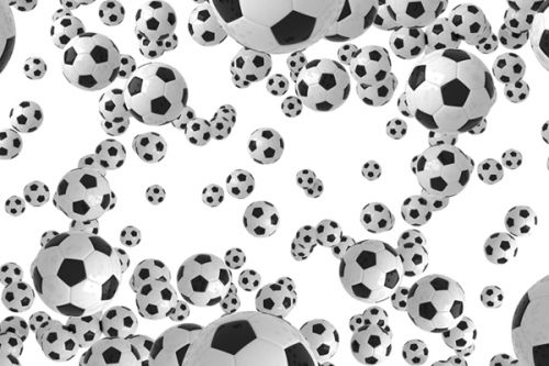 Palm Pixi Skin design of White, Pattern, Football, Ball, Design, Black-and-white, Soccer ball, Monochrome, Paw, Games with gray, white, black colors