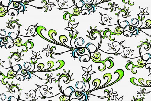 Samsung Instinct s30 Skin design of Pattern, Floral design, Leaf, Botany, Pedicel, Design, Line art, Clip art, Visual arts, Plant with white, gray, black, green colors