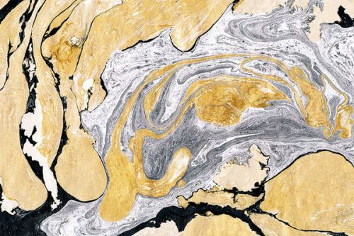 Samsung Epic 4G Skin design of Yellow, Rock, Geology, Water, Geological phenomenon, Illustration, World, Pattern, Art with black, white, gray, yellow colors
