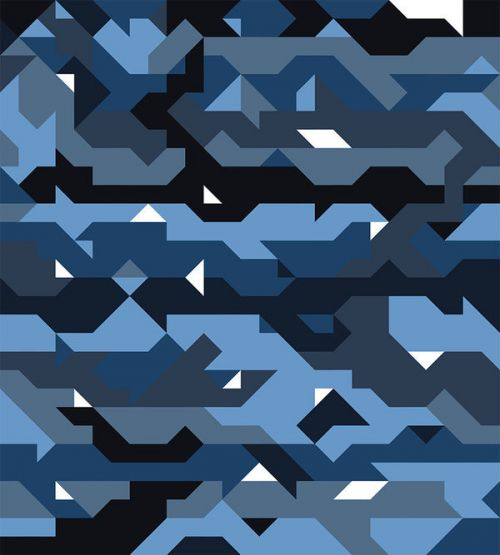 Design of Blue, Pattern, Design, Font, Line, Camouflage, Illustration, Triangle with blue, black, white, gray colors