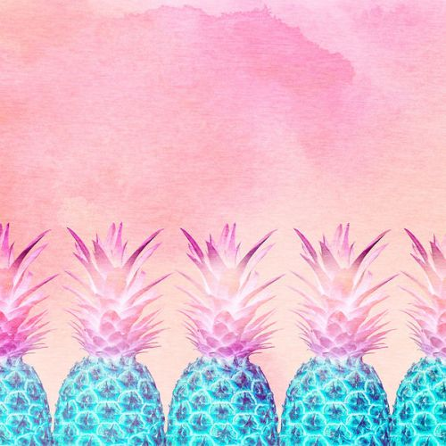DJI Mavic 2 Battery Skin design of Pineapple, Ananas, Pink, Fruit, Plant, Bromeliaceae, Pattern, Poales with pink, blue, orange colors
