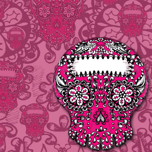 Design of Pattern, Skull, Pink, Illustration, Bone, Magenta, Visual arts, Design, Graphic design, Art with red, purple, black, gray, white, pink colors