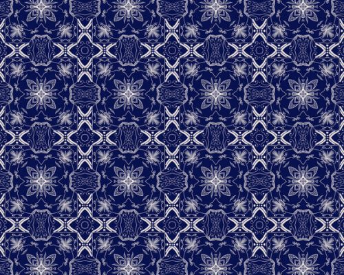 Design of Blue, Pattern, Cobalt blue, Electric blue, Design, Majorelle blue, Symmetry, Textile, Visual arts with blue, white colors