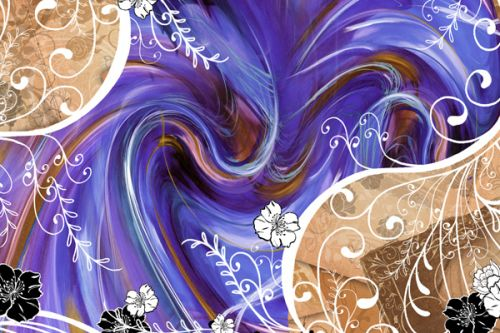 Creative ZEN MX Skin design of Purple, Violet, Blue, Text, Pattern, Lilac, Graphic design, Design, Textile, Art with gray, blue, black, purple, green, red colors