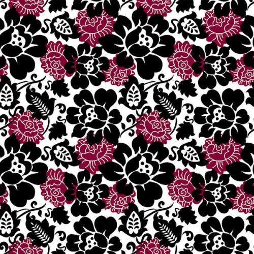 Motorola Moto Z Play Droid Skin design of Pattern, Pink, Floral design, Design, Textile, Magenta, Visual arts, Plant, Flower with black, white, red colors