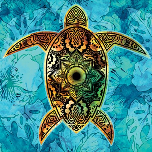 Design of Sea turtle, Green sea turtle, Turtle, Hawksbill sea turtle, Tortoise, Reptile, Loggerhead sea turtle, Illustration, Art, Pattern with blue, black, green, gray, red colors