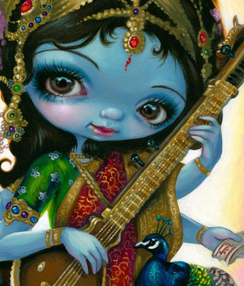 Saraswati Playing