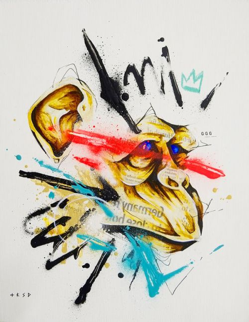 Design of Graphic design, Illustration, Art, Modern art, Drawing, Watercolor paint, Visual arts, Ink, Sketch, Graphics with blue, red, yellow, black colors