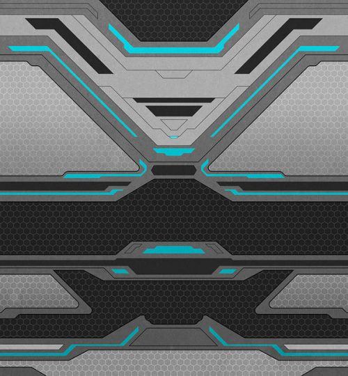iPhone XS Clip Case design of Blue, Turquoise, Pattern, Teal, Symmetry, Design, Line, Automotive design, Font with black, gray, blue colors