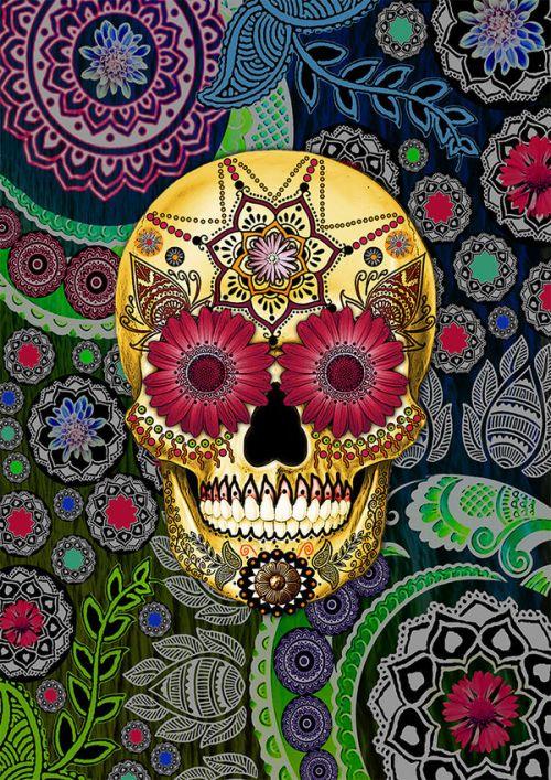 Sugar Skull Paisley