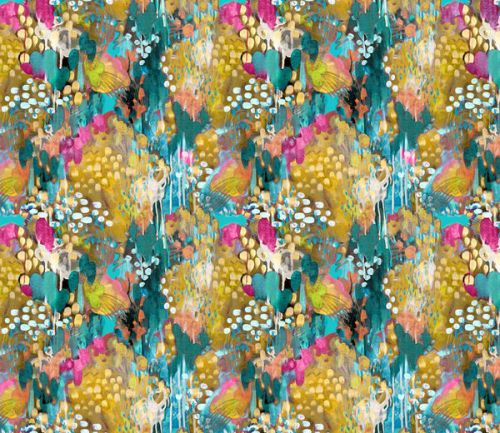 Design of Pattern, Textile, Design, Art, Visual arts, Wildflower with green, gray, blue, black, red colors