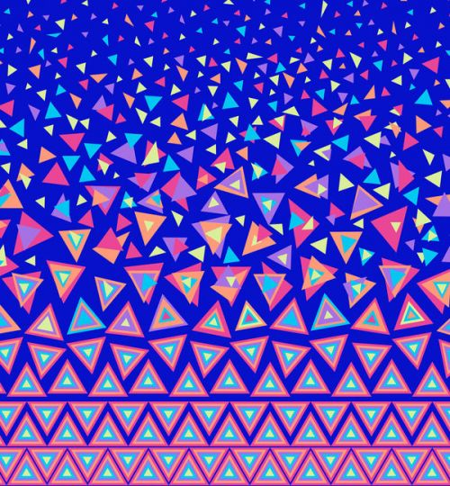 Design of Pattern, Blue, Line, Symmetry, Design, Triangle with blue, pink, red, green, purple, orange colors