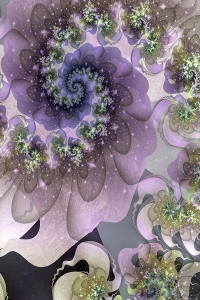 Design of Purple, Violet, Lilac, Fractal art, Flower, Plant, Lavender, Botany, Organism, Petal with gray, black, purple, green, red, blue colors