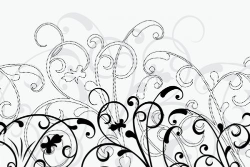 Samsung SCH-u740 Skin design of White, Line art, Floral design, Pattern, Black-and-white, Design, Botany, Ornament, Leaf, Line with white, gray, black colors