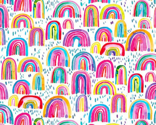 Design of Line, Pattern, Design with white, orange, yellow, blue, pink, red, green colors
