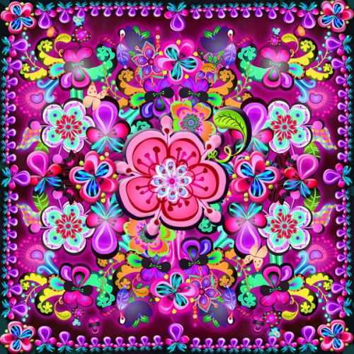 Barnes & Noble NOOK Simple Touch Skin design of Pattern, Pink, Design, Textile, Magenta, Art, Visual arts, Paisley with purple, black, red, gray, blue colors