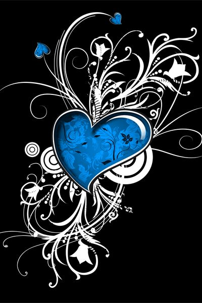 Design of Graphic design, Heart, Design, Graphics, Illustration, Pattern, Plant, Visual arts, Art with black, gray, blue, white colors