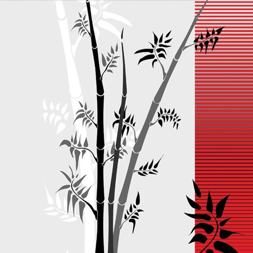 HTC EVO Design 4G Skin design of Botany, Plant, Branch, Plant stem, Tree, Bamboo, Pedicel, Black-and-white, Flower, Twig with gray, red, black, white colors