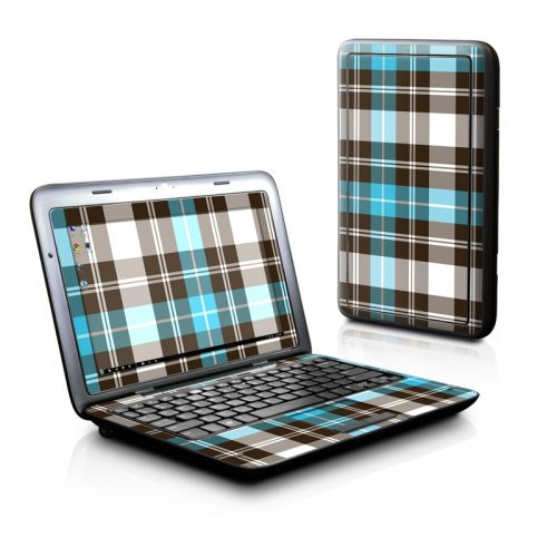 Turquoise Plaid Dell Inspiron duo Skin
