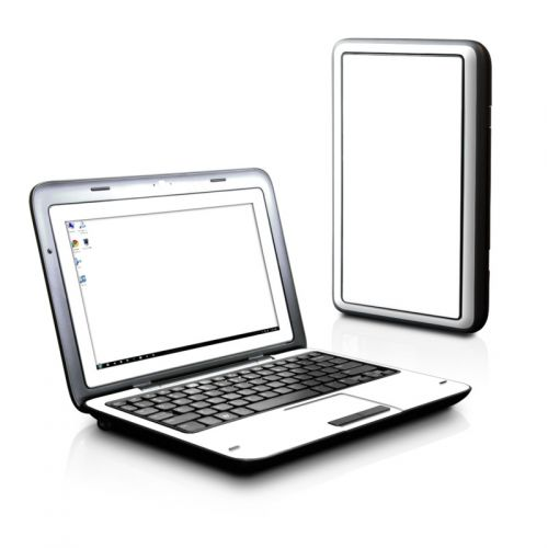 Solid State White Dell Inspiron duo Skin