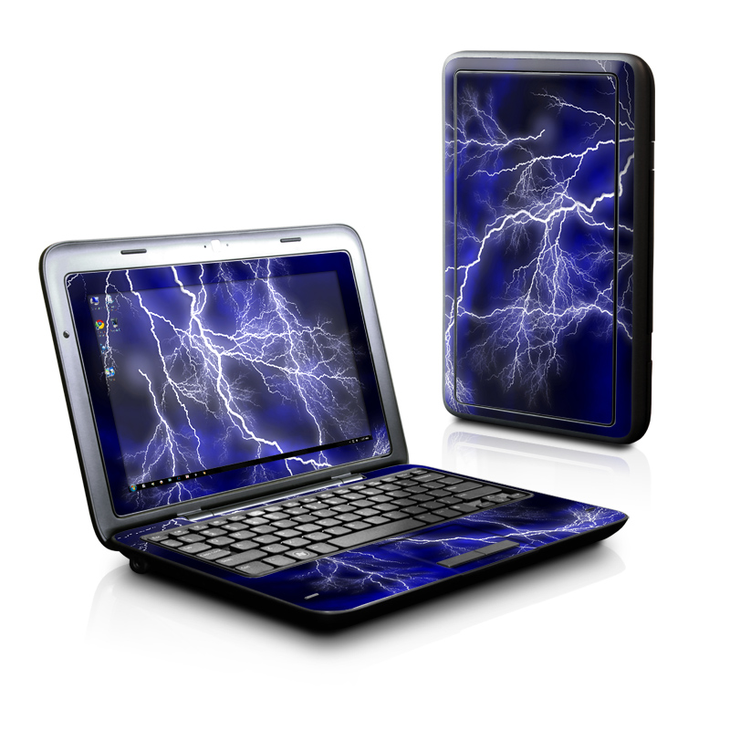 Dell Inspiron duo Skin design of Thunder, Lightning, Thunderstorm, Sky, Nature, Electric blue, Atmosphere, Daytime, Blue, Atmospheric phenomenon with blue, black, white colors