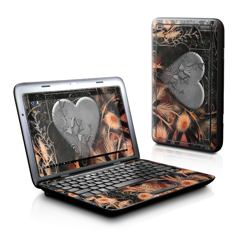 Black Lace Flower Dell Inspiron duo Skin