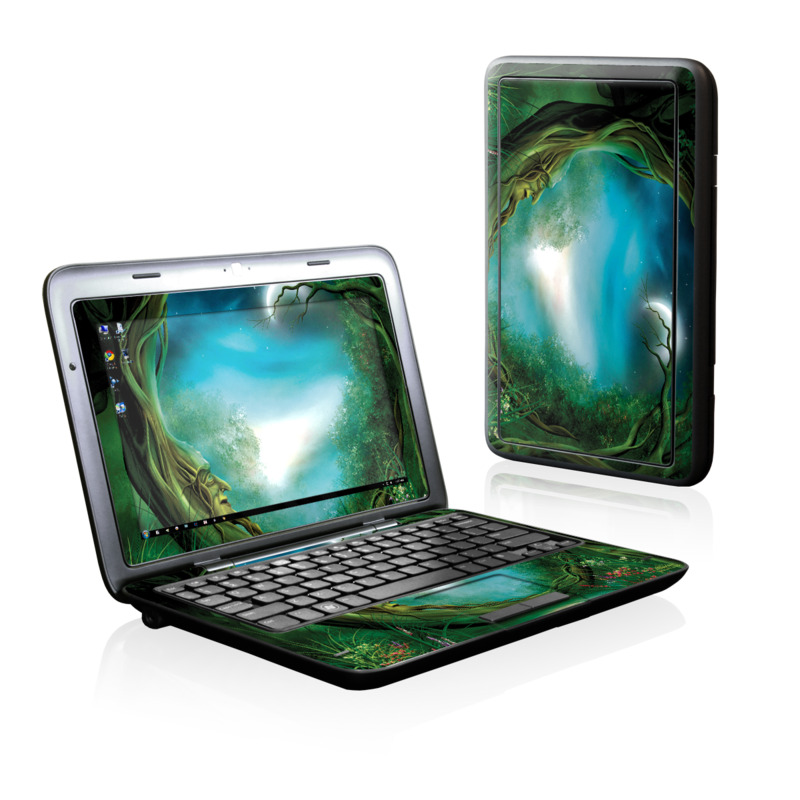 Dell Inspiron duo Skin design of Fractal art, Art, Organism, Fictional character, Earth, Cg artwork with black, blue, green, gray colors