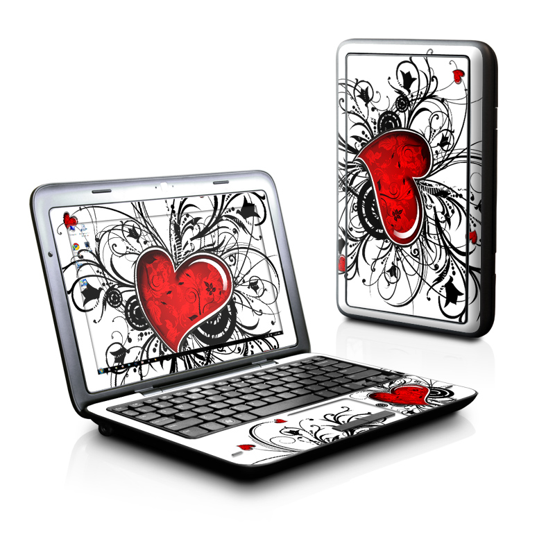 Dell Inspiron duo Skin design of Heart, Line art, Love, Clip art, Plant, Graphic design, Illustration with white, gray, black, red colors