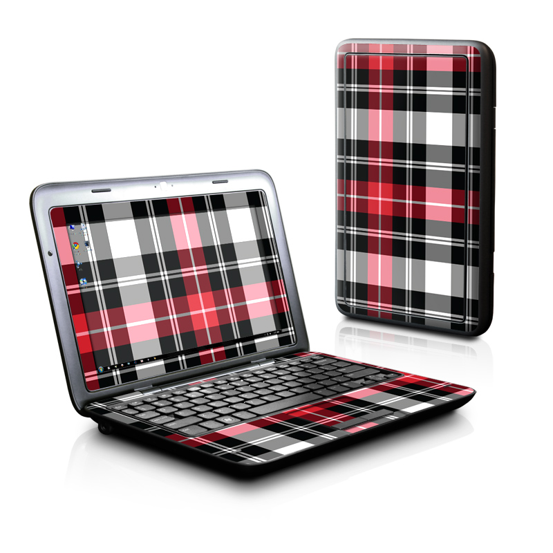 Red Plaid Dell Inspiron duo Skin