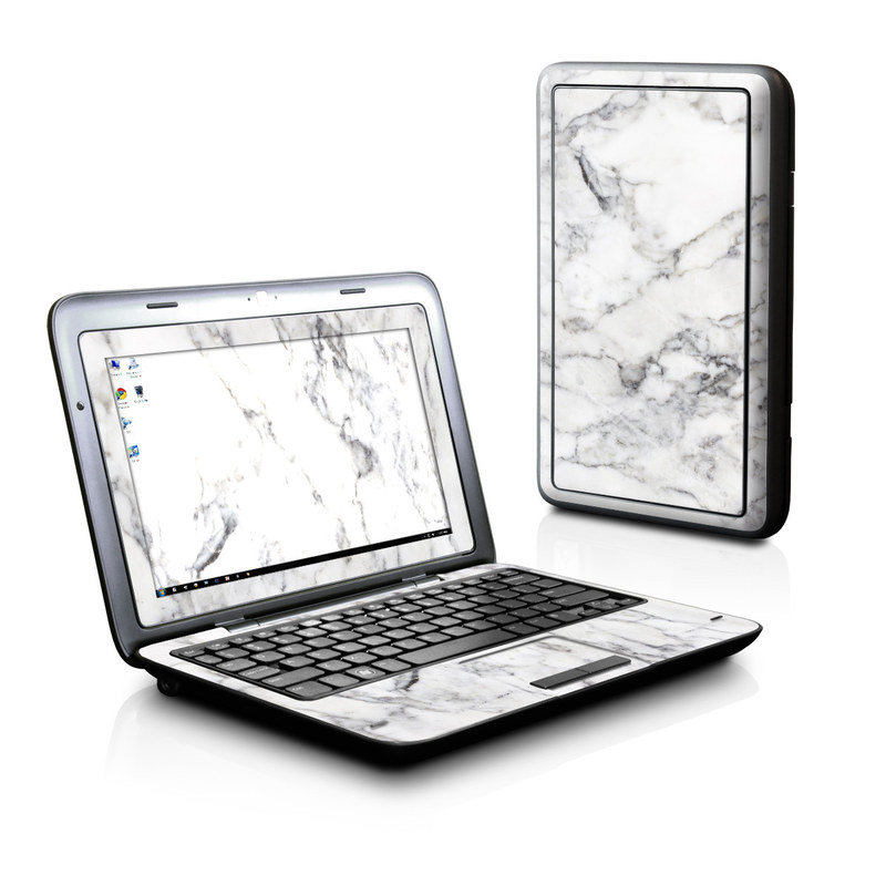 White Marble Dell Inspiron duo Skin