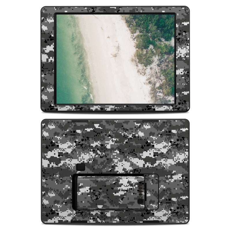 DJI CrystalSky 7.85-inch Skin design of Military camouflage, Pattern, Camouflage, Design, Uniform, Metal, Black-and-white with black, gray colors